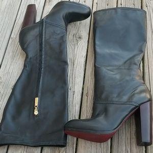 Elizabeth & James soft leather high heeled boots